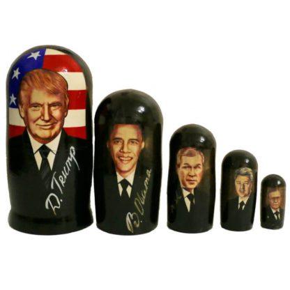 Матрешка с президентами Америки